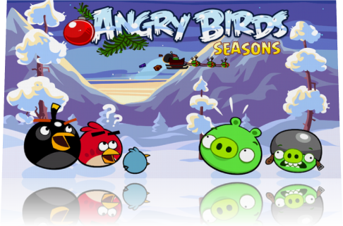 [Symbian^3] Angry Birds Seasons v.2.0.1: Wreck the Hall - Новогодний эпизод!
